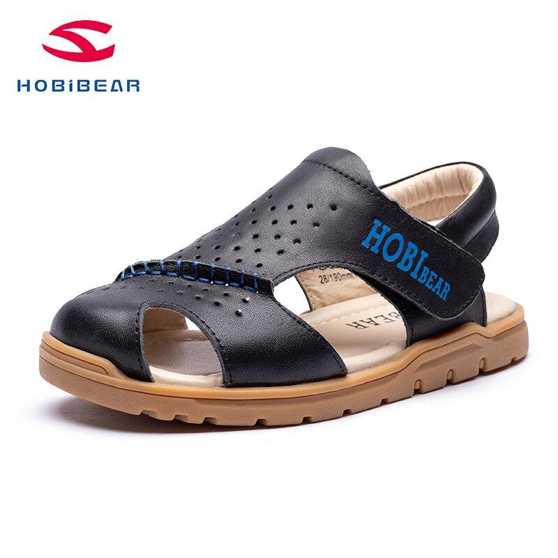 HOBIBEAR   2020 New Summer ChildrenGirl Boy Beach Boys Sandals Kids Shoes Closed Toe Arch Support Sport  PU Sandals  GU2552