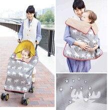 Многофункциональное детское шерстяное одеяло, детское зимнее флисовое теплое ветрозащитное дождевик для коляски, накидка для пеленания, детское одеяло из альпаки