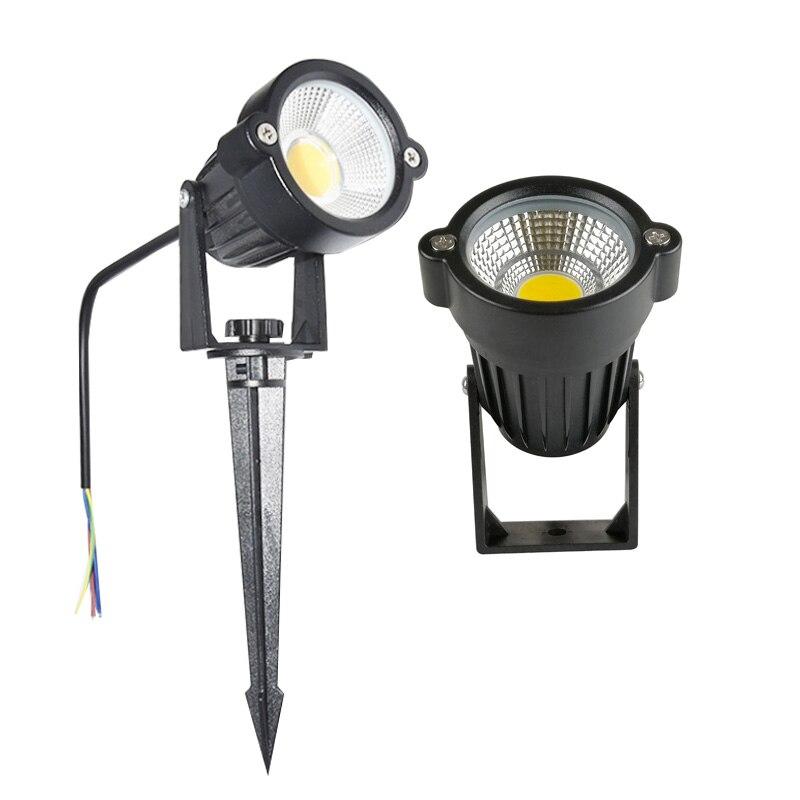 3W 5W LED COB Garden Lawn Lamp Outdoor LED Spike Light Waterproof Lighting Led Light Garden Path Spotlights AC110V 220V DC12V