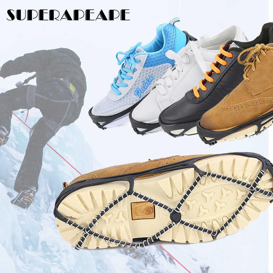 1 par de garra para nieve de hielo, zapatos elásticos antideslizantes profesionales, botas, pinchos, cubiertas de zapatos, crampones para exteriores, Unisex