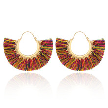 2019 New Womens Retro Statement Earrings Bohemian Tassel Handmade Luxury Fashion Jewelry Brincos