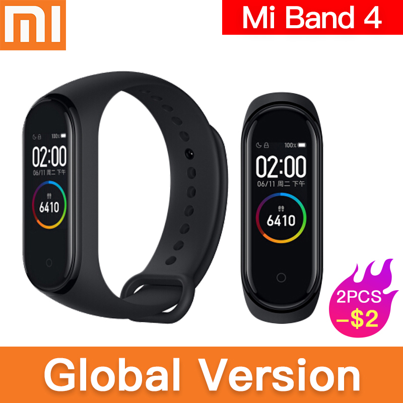 Original global version Xiaomi Mi Band 4 Smart Miband Newest Music Bracelet Heart Rate Fitness 135mAh Color Screen Bluetooth 5.0