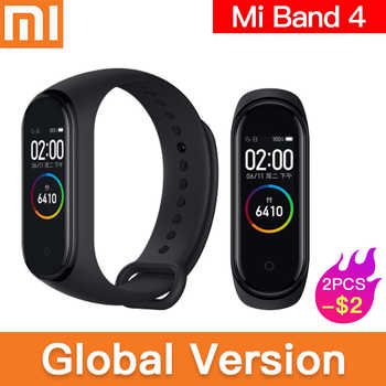 Original global version Xiaomi Mi Band 4 Smart Miband Newest Music Bracelet Heart Rate Fitness 135mAh Color Screen Bluetooth 5.0 - DISCOUNT ITEM  5% OFF All Category