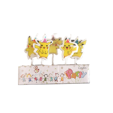 Pikachu theme candle birthday cake decoration disposable creative candle baby birthday birthday gift birthday candle кольцо orxi birthday 2010001330