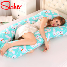 Pregnant Pillow U Shape Sleeping Support for Pregnancy Women Full Body Maternity Cotton Pillows Side Sleepers protect Cushion