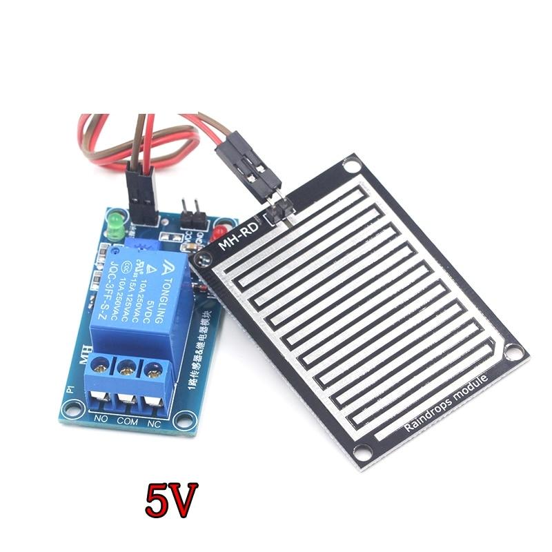 Rain Water Sensor Module + DC 5V 12 Relay Control Module Rain Sensor Water Raindrops Detection Module For Arduino Robot Kit