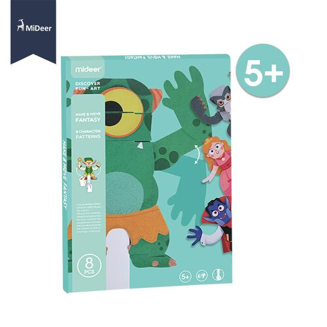 Paper 3D Origami Craft Kit Elf Animal Frog 8 Character Patterns Kids Early Learning Educational Toys For Children Kindergarten 2