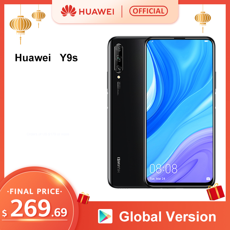 "World Premiere Global Version Huawei Y9s 6GB 128GB 48MP Smartphone Triple AI Cameras Auto-Pop Up Front Camera 6.59"" Cellphone"