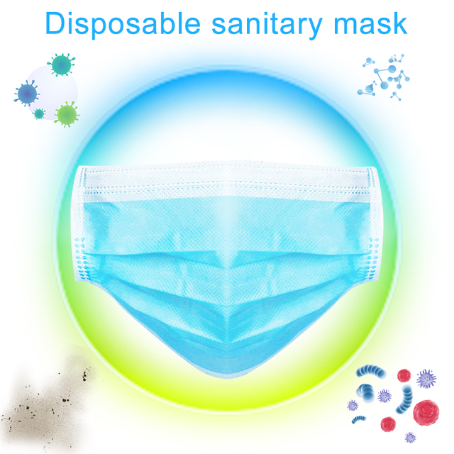 50/10pcs Disposable Mouth Mask medical Sterile Hygienic Anti air pollution Health Care Masks for Germ Protection Anti flu mask 3