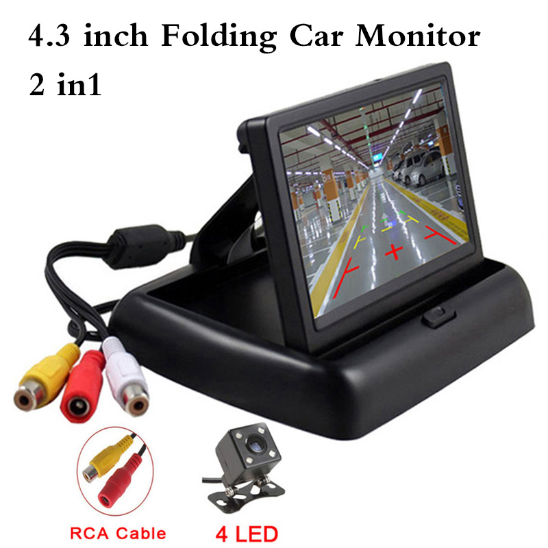 Video-Player Car-Monitor Folding Camera Parking-Assist Rear-View Night-Vision Waterproof
