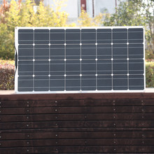 Panel Solar 300 W 200 W 100 W 400 W Flexible para Фотатический PV monocristalino elemento cargador 12V 24V