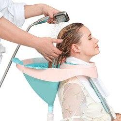 Bol à shampoing Portable lavabo pour laver les cheveux, femmes enceintes, grands enfants, soins infirmiers, pliable, en silicone Mobile pour Salon à la maison Spa