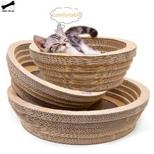 Cat Scratch Pad Bowl Funny Toy Litter Mat Corrugated Paper Pet Supplies