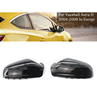 1 Pair for Opel Astra 2004 2008 Rearview Wing Mirror Covers Housing Protection Caps Plastic Light Black