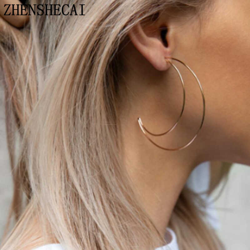 Simple minimalist gold Color Moon earrings half moon earring ear accessories for women fashion jewelry wholesale