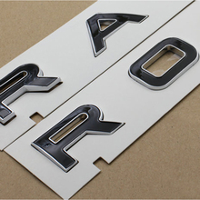 Range Rover Lado Ala Puerta Panel SV brillante de aluminio emblema Pegatina Insignias