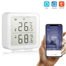 Tuya WIFI 온도 및 습도 센서 Smart Wall Mounted Home 습도 센서 온도계 Alexa 사용
