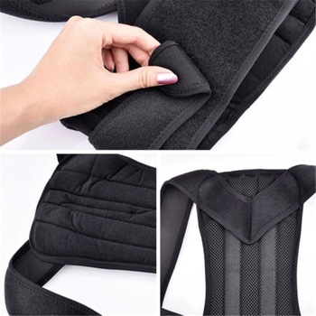 Men Women Adjustable Magnetic Posture Corrector Male Corset Back Support Belt Lumbar Support Sports Safety Straight Corrector 8