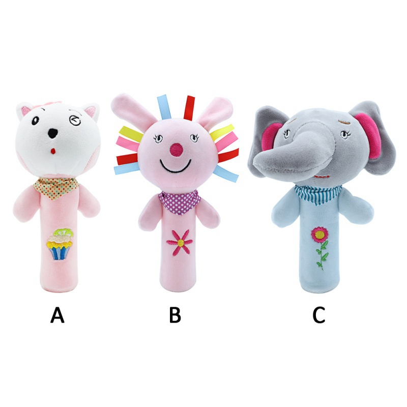 Baby Plush Stroller Toys Baby Rattles Mobiles Cartoon Animal Hanging Bell Educational Baby Toys 0-12 Months Speelgoed