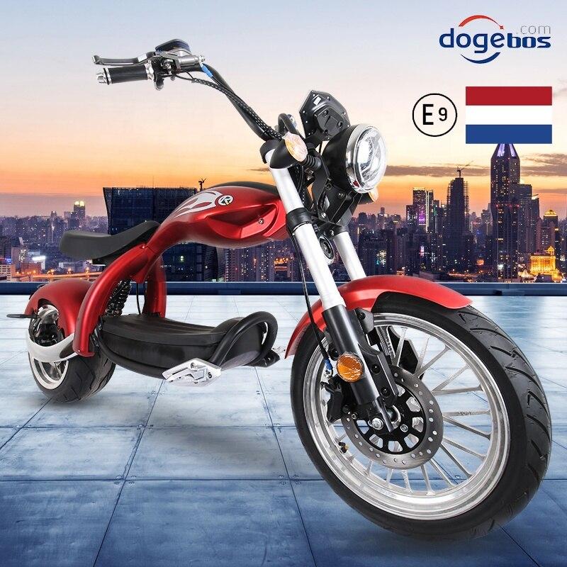 Новый комплект модного нижнего белья высокого Скорость Citycoco 2000 Вт Электрический мотоцикл 60V 20AH 12 дюймов Мощность скутеры мотоциклы Электри...