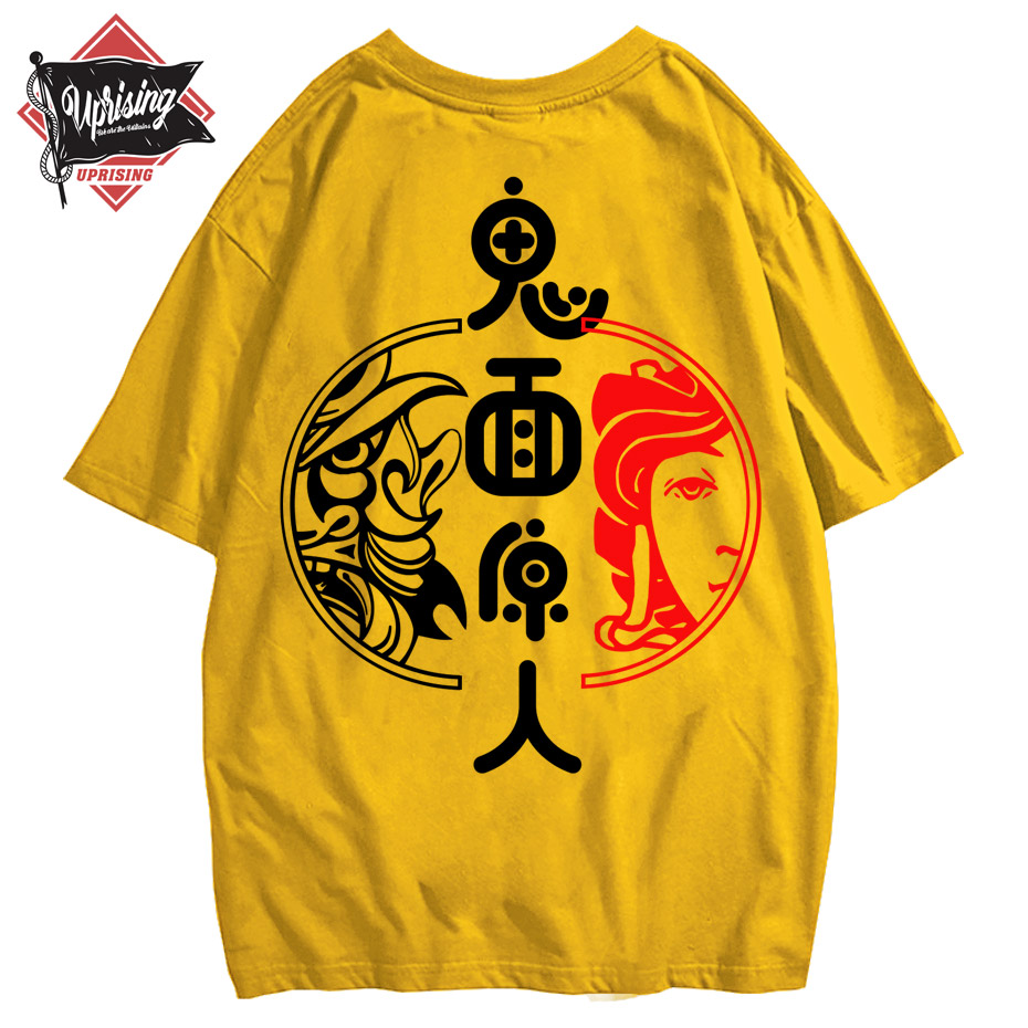 T Shirt Streetwear Tshirt Tops Tee Short Sleeve Cotton Men Hip Hop O-neck Summer Hiphop Back Printed Snake Ghost T- Harajuku