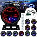 Eluto 2'' 52mm Universal Auto Turbo Boost Gauge Vakuum Druck Meter -1 ~ 2 Bar 10 Farben LED display Dual Lesen 12V Für Toyota