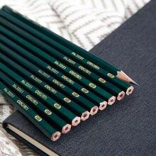 Deli hb Деревянные Черные свинцовые карандаши для школы кавайные