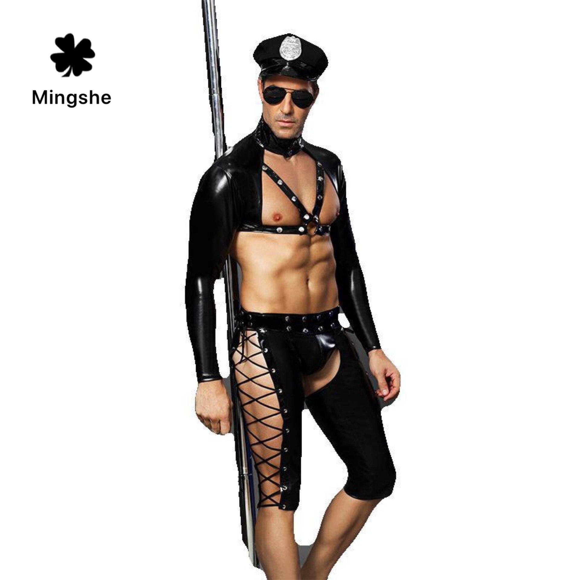 MS, мужской сексуальный комплект нижнего белья, черное сексуальное нижнее белье для мужчин, одежда для выступлений, индивидуальная