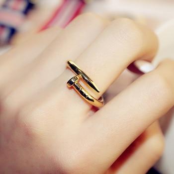 Titane acier or argent Bague d'amour pour femmes hommes zircon cubique Bague de mariage de fiançailles Anillos Bague Femme Design de luxe