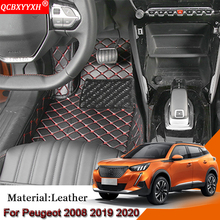 Auto Styling Auto Vloermatten Set Lederen Cover Mat Styling Foot Protector Pad Auto Accessoires Voor Peugeot 2008 2019 2020