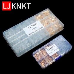 Bornes à sertir, 180/600 pièces de connecteurs de fils, fournitures électriques, Kit de connecteurs automatiques avec lame dorée, 2.8/4.8/6.3mm