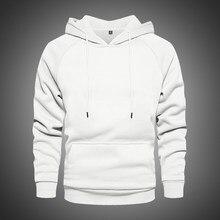 Hoodie do inverno dos homens do hoodie quente grosso do velo do hoodie dos homens da rua alta cor sólida com capuz