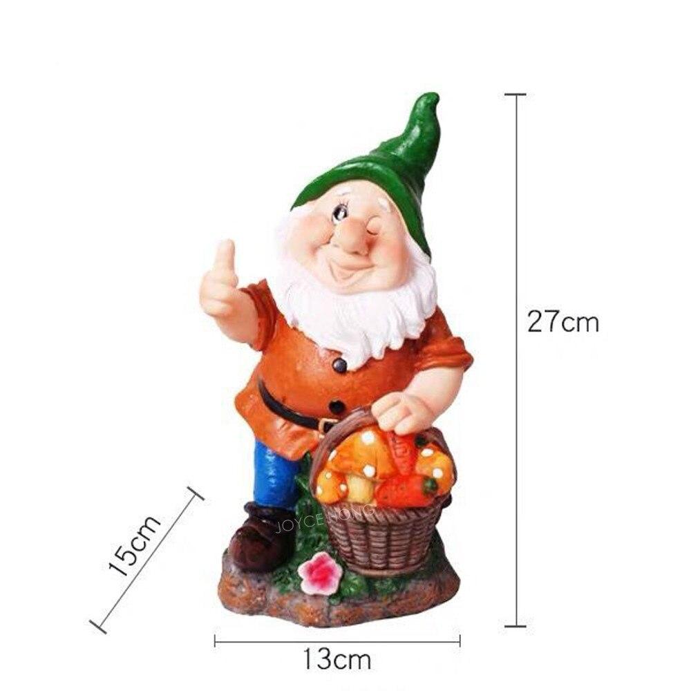 Dwarfs Decorations Outdoor Garden Gnome Statue Figurine Polyresin
