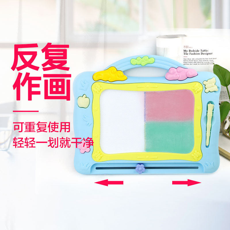 Children Drawing Board Color Magnetic Drawing Board Infants Educational Small Blackboard Baby Doodle Toy 2-3-5-Year-Old