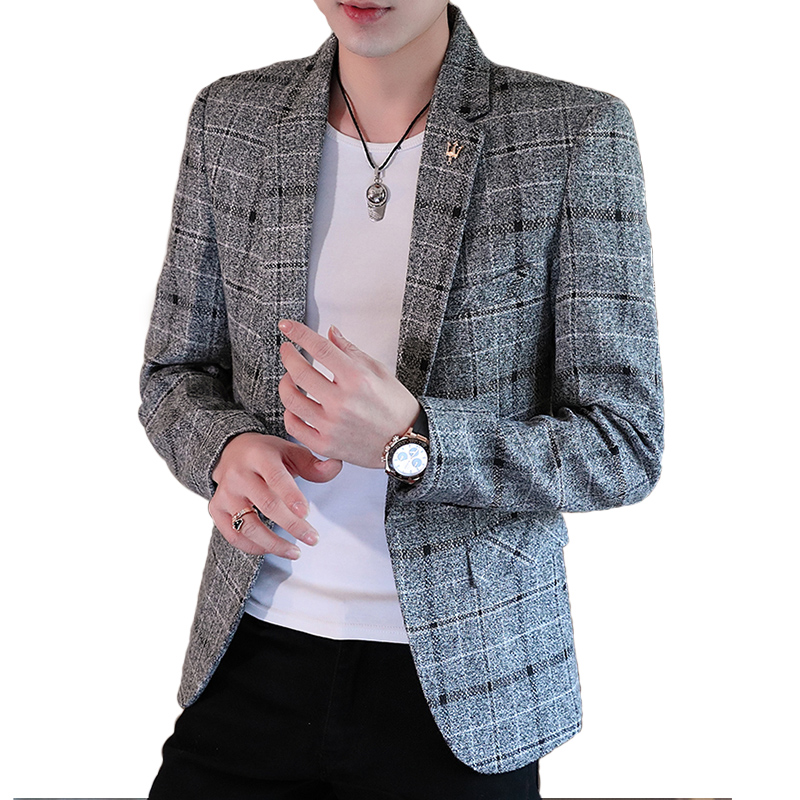 2020 Spring And Autumn Mens New Luxury Fashion Personality One Button Suit Fit Leisure Comfort British Fashion Youth Blazer Coat