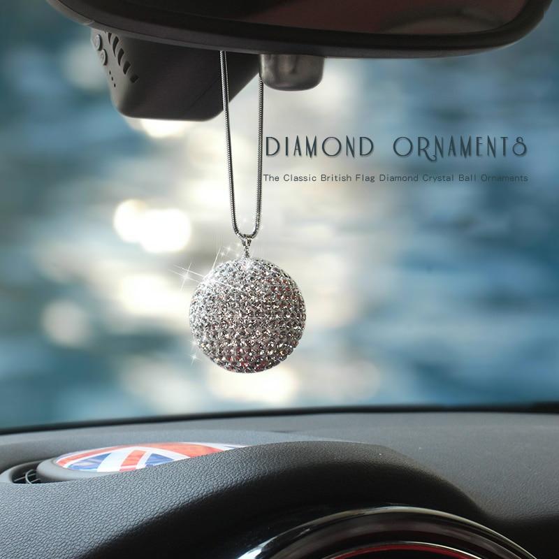 Car Rear View Mirror Pendant Crystal Car Hanging Ornament Car Interior Decor