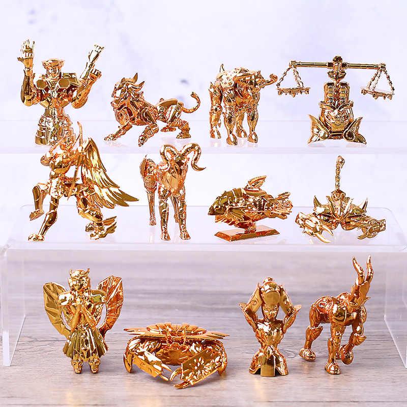Saint Seiya Gold Twelve Constellations Gemini Libra PVC Statue Set of 12 New