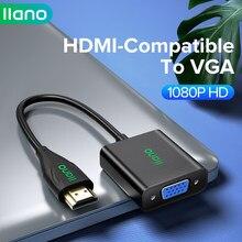 Llano hdmi-compatível com adaptador vga digital para cabo conversor analógico para xbox ps4 computador portátil tv para projetor displayer hdtv