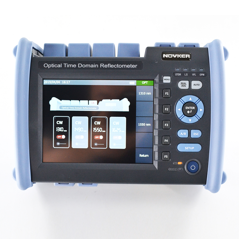 OTDR NK6000 Original 1310/1550nm 35/33dB Multi-Function Optical Time Domain Reflectpmeter 5mw Touch Screen
