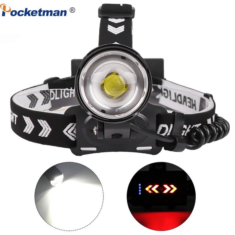 8000LM XHP90.2 Headlamp LED Fishing Headlight Waterproof Ultra Powerful Camping Lantern Head Lamp Flashlight 18650 Light