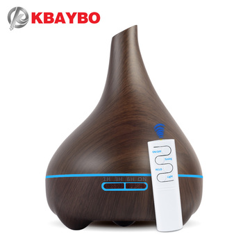 KBAYBO 550ml Aroma Essential Oil Diffuser Electric Wood Grain Ultrasonic Cool Mist Humidifier for Office Home Bedroom LivingRoom