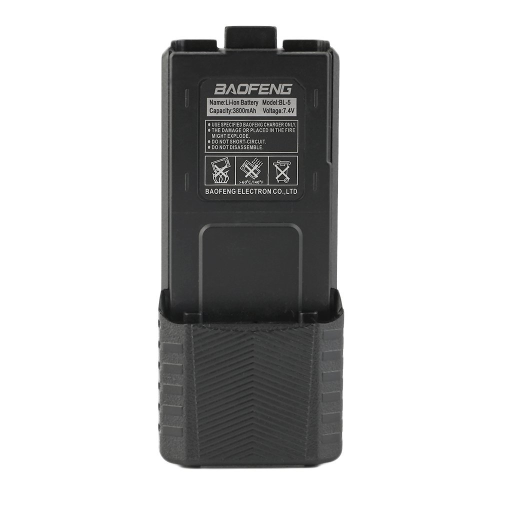 3800mAh 7.4V Extended Li-Ion Extended Long Battery For Baofeng UV-5R UV-5R-L BF-F8/8+ BF-F9 Two Way Radio