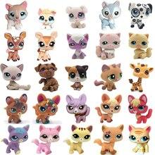 Лпс стоячки собаки игрушки Lps кошка редкий магазин домашних животных игрушка стоит короткой шерсти кошка котенок Хаски щенок собака лиса маленькие животные старая коллекция Фигурки