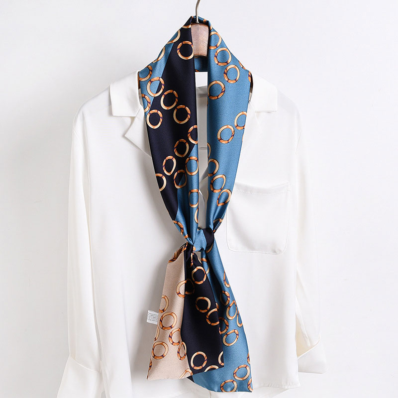2020 Silk Scarves Women Foulard Head Hijab Small Scarf Ladies Chiffon Shawl Wrap Muffler Pareo Bandanna Female Free Shipping