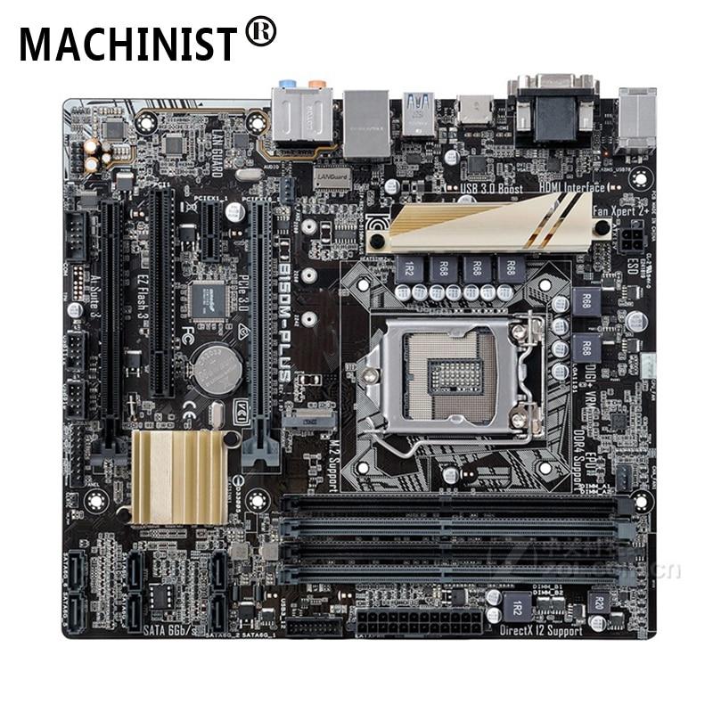 For ASUS B150M-PLUS Desktop motherboard Intel B150 LGA 1151 micro ATX DDR4 64GB M.2 SATA3.0 USB3.0 100% fully Tested