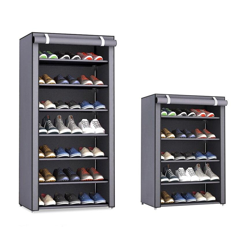 Многослойная полка для обуви, съемный пылезащитный нетканый шкаф для обуви, органайзер для обуви, стеллаж для хранения, мебель для дома