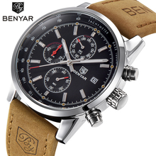2019 Benyar Horloge Mannen Top Brand Luxe Quartz Zakenlieden Horloges Mode Militaire Chronograaf Sport Klok Relogio Masculino