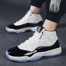 حجم كبير الرجال حذاء كرة السلة تنفس مريحة الرياضة حذاء من الجلد التدريب الرياضي دائم المطاط تسولي أحذية رياضية