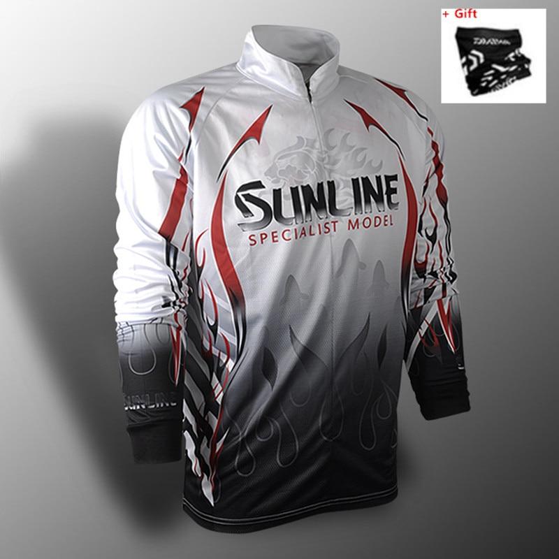 2020 New Brand Sunline Fishing Shirts Sunscree Breathable Summer Autumn Fishing Jersey Quick Dry Anti-UV Fishing Coat Gift Free