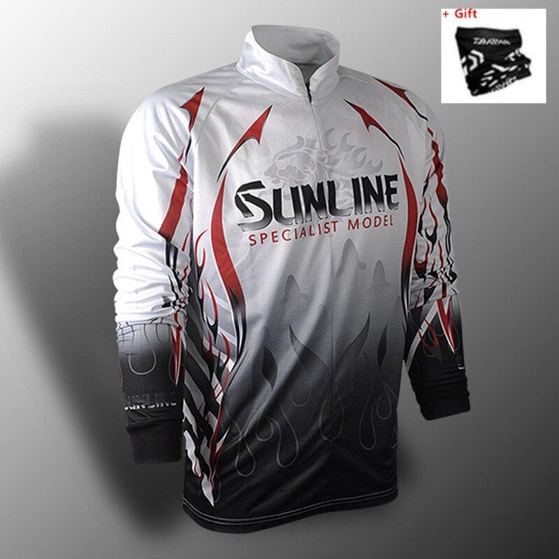 2020 nova marca sunline pesca camisas sunscree respirável verão outono camisa de pesca secagem rápida anti-uv casaco de pesca presente livre